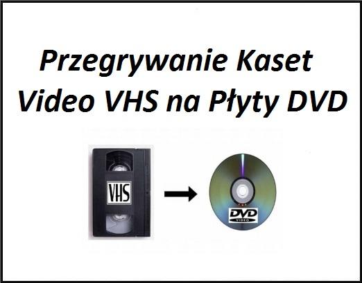 Przegrywanie Kaset Video VHS na Płyty DVD